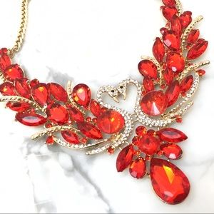 Jewelry - Red Crystal Special Occasion Statement Necklace